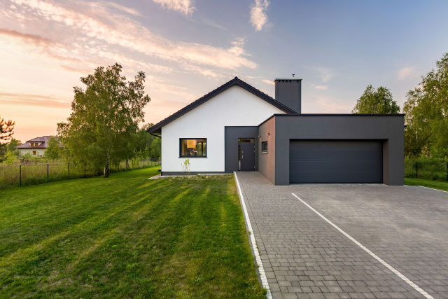 House with backyard and garage